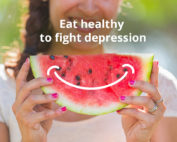 Eat healthy to fight depression