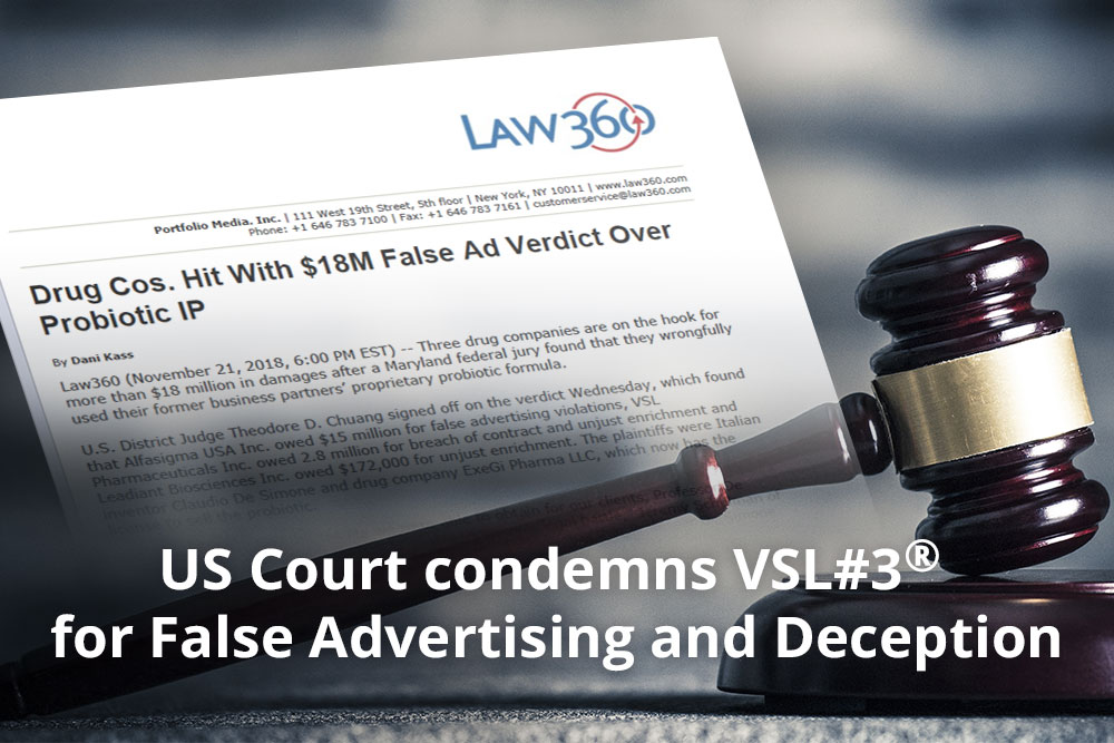 A Major Decision by US Court Ruled against VSL#3®